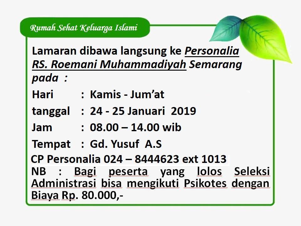 Lowongan Pekerjaan Rs Roemani Muhammadiyah Semarang Stikes Bhakti Mandala Husada Slawi Bhamada